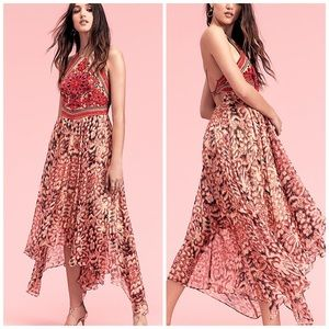 Free People Floral Embroidered Chiang Mai Maxi